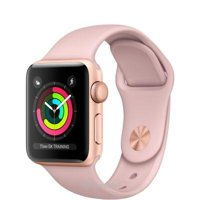Smart watches,sports bracelets Apple Watch Series 3 (GPS) 38mm Gold Aluminum w. Pink Sand Sport B. - Gold (MQKW2)